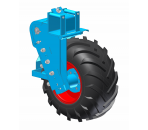 Mobile and adjustable wheel unit