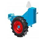 Caja de distancias con bloque de rueda integrado