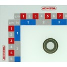 ENTRETOISE ROULETTE PLOMBEUSE MS LARGEUR 18+5mm ZN BLANC 450HBS SANS CHROME VI PLAN 20033976B du 15.