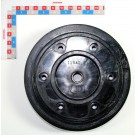 1/2 JANTE NOIRE 300X100+RONDELLE ID +ROULEMENT. PLAN 10200132G DU 24.11.08 COULEUR NOIRE (ROND. DUST