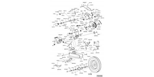 Bloc roue 7'' - châssis trainé