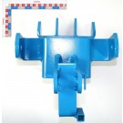 Row marker frame bracket blue painting