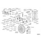 Bloque de ruedas regulable con husillo